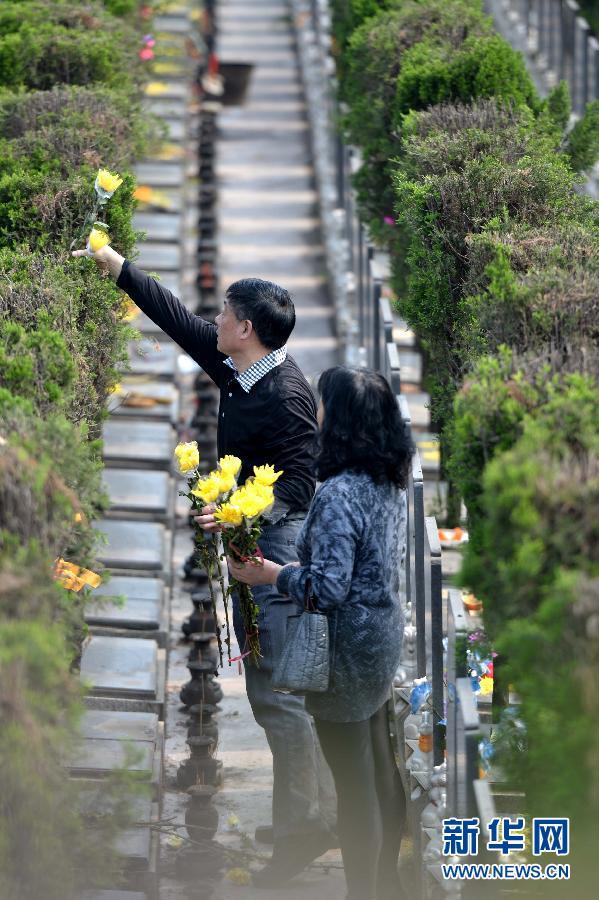 低碳清明节 鲜花祭故人 图片频道