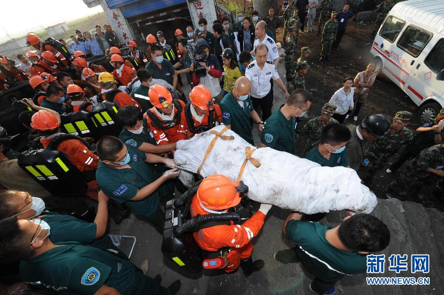 """当日,黑龙江鹤岗旭祥煤矿""""7·20""""水害事故被困的6名矿工获救."""