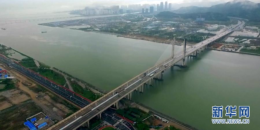 广东自贸区一周年:新华网无人机航拍珠海横琴