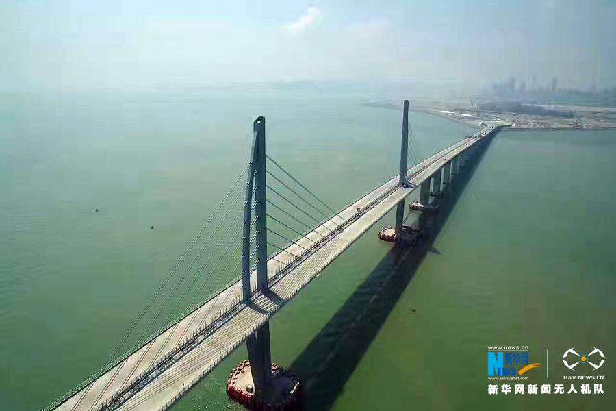 港珠澳大桥全线贯通,航拍 港珠澳大桥主体桥梁工程贯通 中国桥梁建