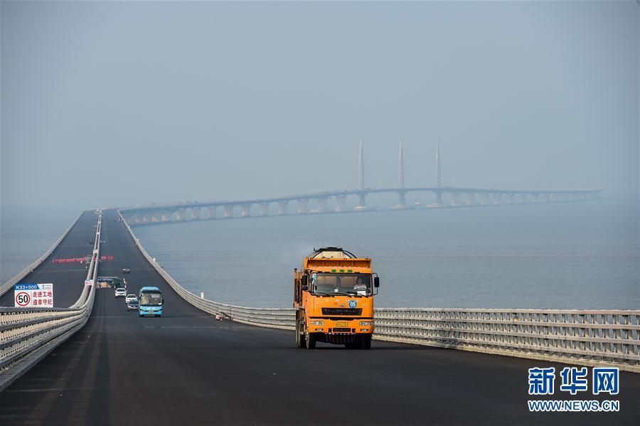(新华全媒头条·图文互动)(8)港珠澳大桥全线贯通在即 粤港澳大湾区加速起航