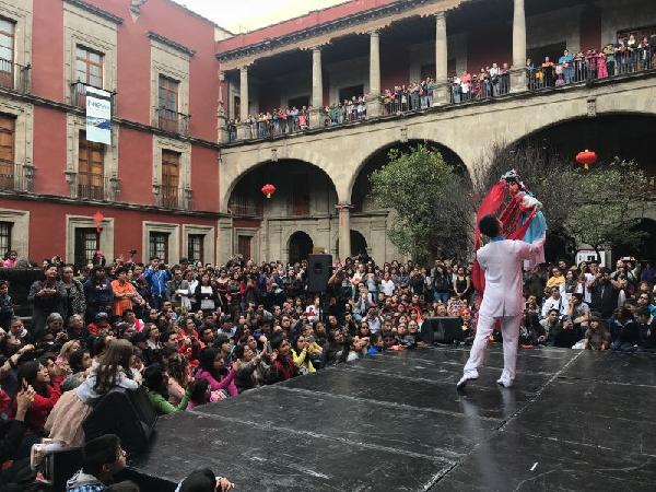 """图为""""2018年广州文化周�q欢乐春节墨西哥行""""活动现场。(通讯员供图)"""