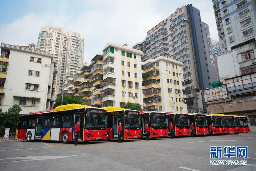 """广州462辆纯电动公交车着""""岭南装""""上路营运"""