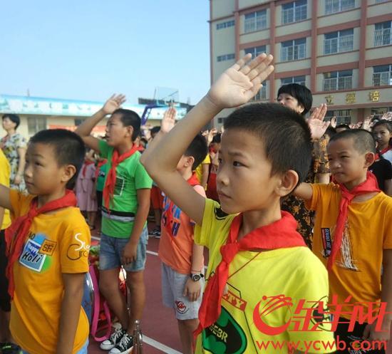 汕头929所中小学按时开学灾后图片迎搭建第一积木开学小学师生图片