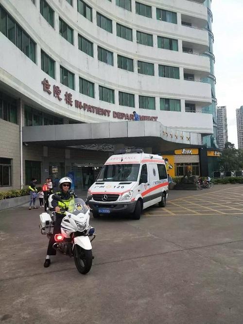 生死时速|1小时20分急送救命心脏 广东4地交警全程护航救护车