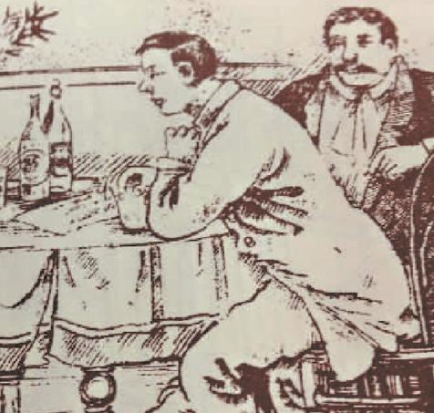 根据上世纪初《时事画报》的图文报道,西式餐饮和餐具摆设已成为上流社会追逐的时尚