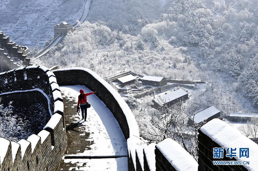 Chinesischer Mauer im Schnee