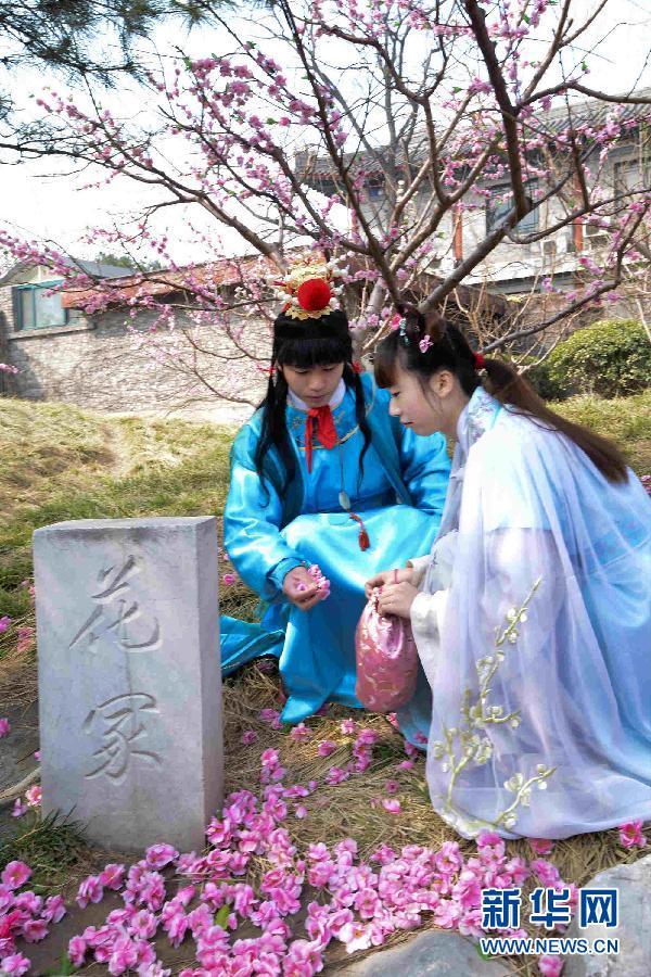 文化 1 北京大观园再现 黛玉葬花