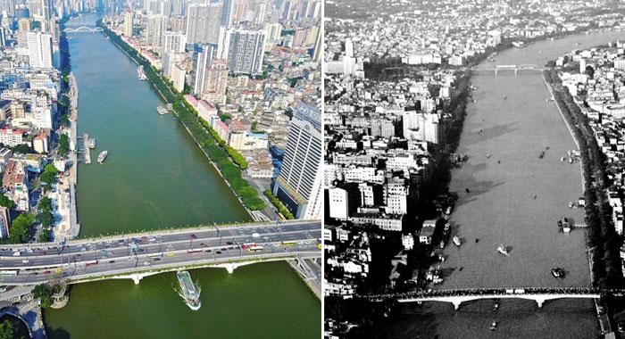 改革開放30余年 珠江兩岸換新顏