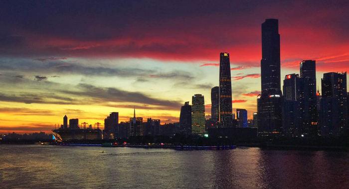 【城市表情】廣州:雨後晚霞絢麗如畫