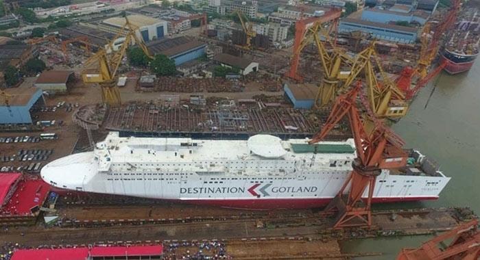 造價10億元,廣船國際荔灣廠區2號船臺最後一船順利下水