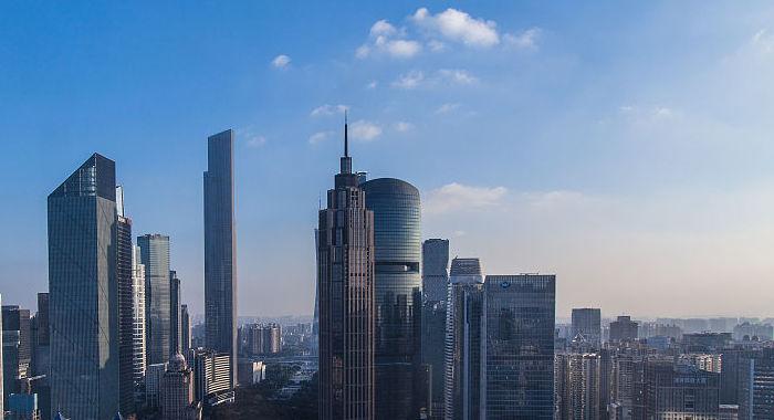 廣州天氣放晴 現藍天白雲美景
