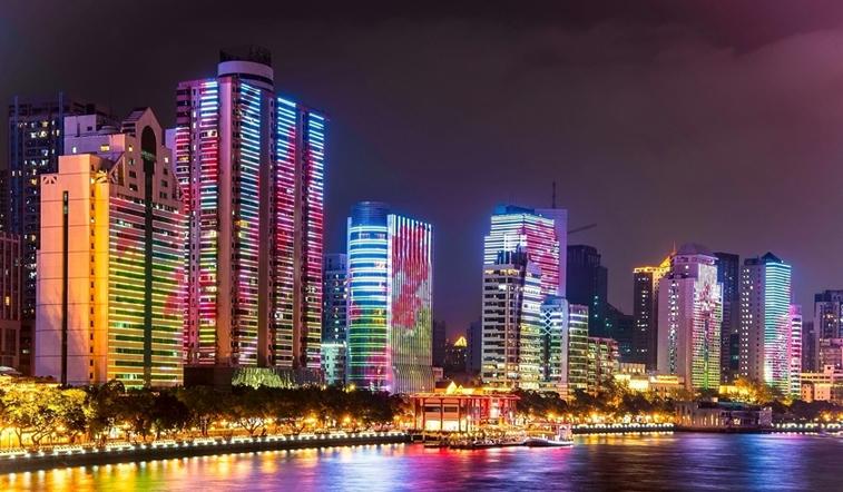延時攝影:炫美珠江夜景 一江兩岸美如畫