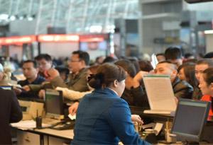 春運第一周白雲機場8日起迎來節前客流出行高峰