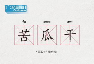 """广东话百科:苦瓜干(""""苦瓜干""""能吃吗?)"""