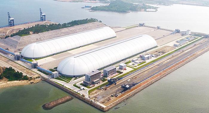俯瞰惠州煤炭環保項目工程