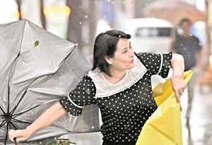 """台风""""贝碧嘉"""" 影响广州减弱 但周末雷雨仍频"""