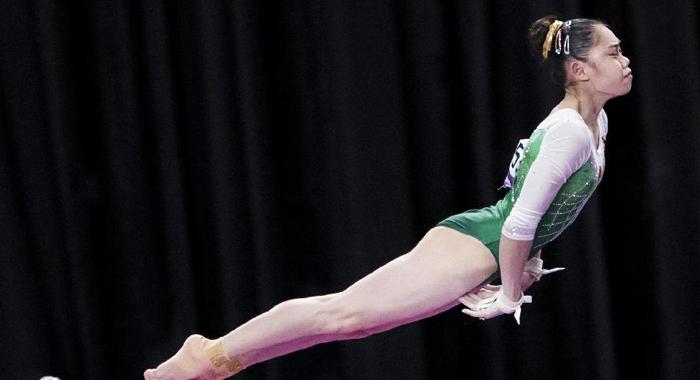 廣東選手劉婷婷拿下亞運會高低杠冠軍博得滿堂彩