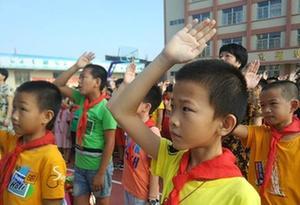 汕头929所中小学按时开学灾后小学迎开学第一年级六人教数学师生上册版图片