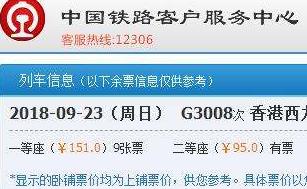 車票開搶了!惠州每天6趟高鐵直達香港,最新時刻表看這