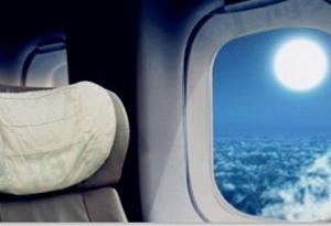 機上賞月味不同 觀景選座有講究
