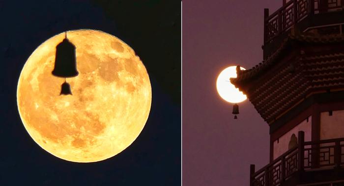十五的月亮十六圓——禪鐘挂月 相映成趣