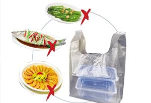 食品打包有講究:一個打包盒 莫裝多個菜