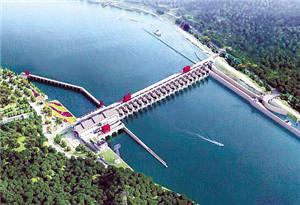 10孔泄水閘基本建成 船閘充水試航成功