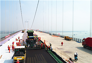 航拍建設中的新虎門大橋 ,又一個世界第一即將誕生