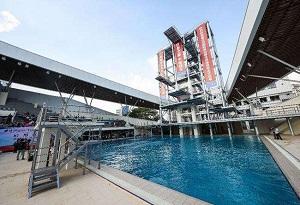 世界首個固定高臺跳水跳臺在中國肇慶啟用