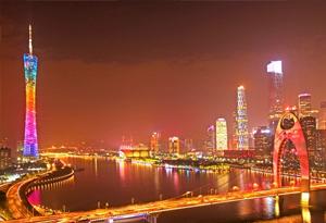 航拍廣州國際燈光節 看光影變幻的藝術