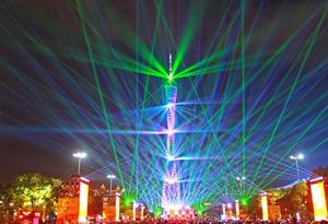 航拍廣州國際燈光節 光語耀花城