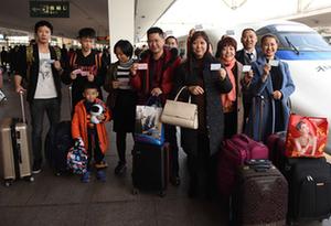 1200多名在粵川籍務工人員乘坐愛心專列返鄉