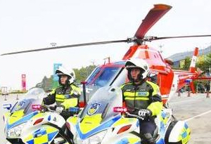 廣東啟用直升機護航春運 提供免費救援服務