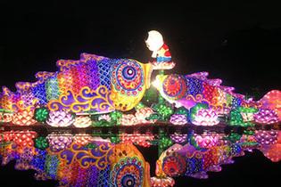 流光溢彩!越秀花燈會扮靚廣州夜景