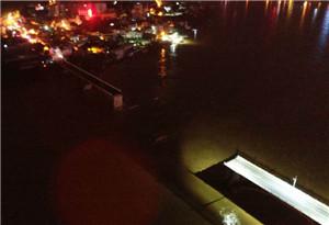廣東河源東江大橋垮塌中墜河人員身份確認 1人獲救2人下落不明