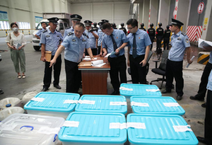 """惠州舉行""""6•26""""國際禁毒日毒品銷毀活動"""