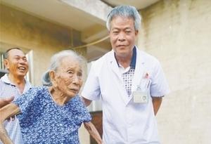 百歲老人摔骨折 術後四天能行走