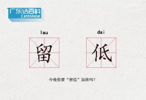 """廣東話百科:留低(今晚你要""""留低""""加班嗎?)"""