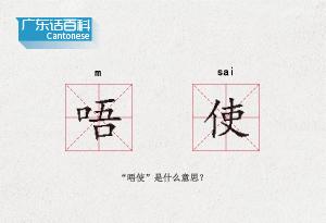 """廣東話百科:唔使(""""唔使""""是什麼意思?)"""