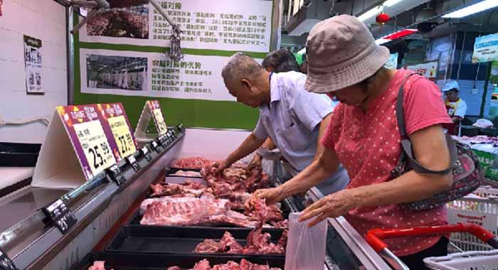 廣州豬肉日供應量約1260噸,肉類供應總體充足