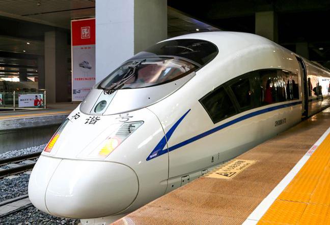 高鐵茂名站昨增開動車至86趟