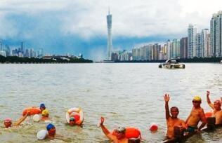夏日的親水之樂 航拍珠江暢遊