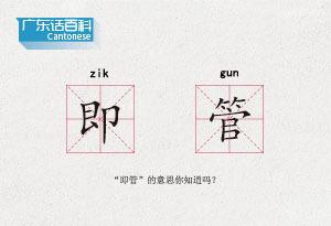 """廣東話百科:即管(""""即管""""的意思你知道嗎?)"""