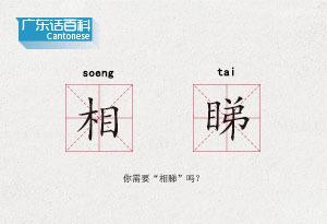 """廣東話百科:相睇(你需要""""相睇""""嗎?)"""