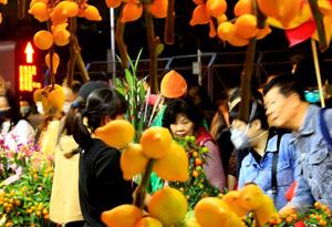 玩非遺文創、買年化,廣州天河迎春花市開市