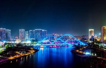 瞰廣州南沙蕉門河,越夜越迷人