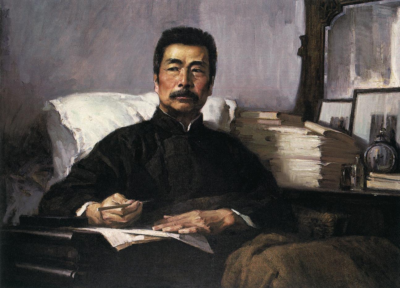 汤小铭《永不休战》油画 108x140cm 1972年 中国美术馆藏