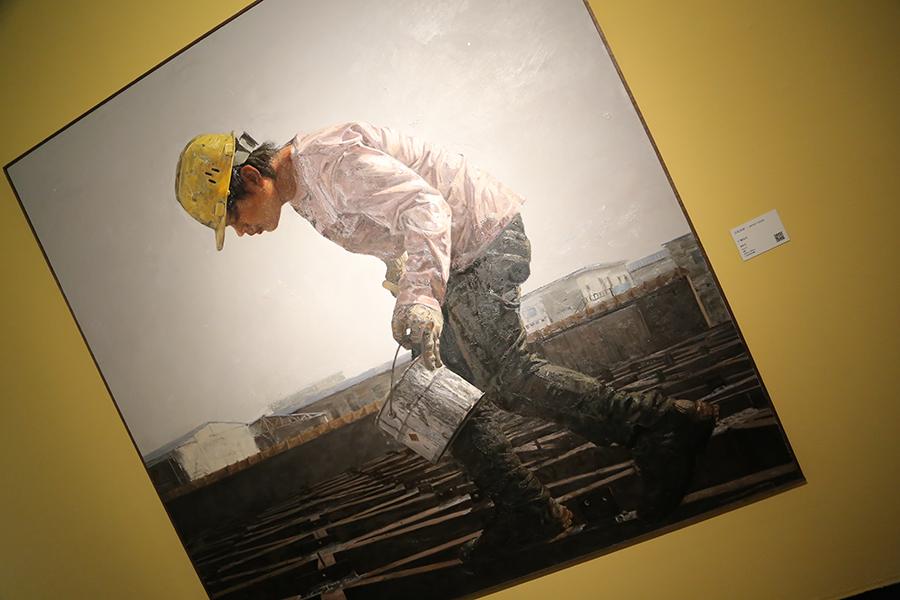 何永兴《广阔天空》油画 2010年 江苏省美术馆藏