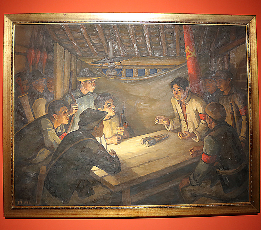 胡一川《前夜》油画 1961年 中国美术馆藏